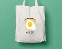 Prints on the bags for Heim Cafe in Lisbon