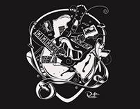 T-Shirt Design 'Smashed Guitar'