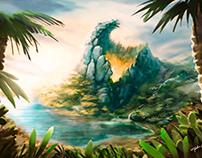 Alligator island concept art