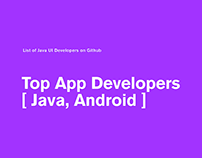 Top App Developers [Java, Android]
