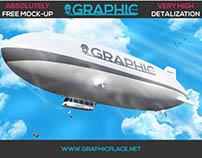 Air Balloon - Free PSD Mockup