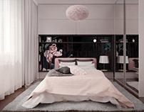 sypialnia z flamingami