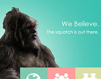 Seek Out the Squatch Site Mockup