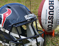 PHOTOGRAPHY - Houston Texans, helmet, football field