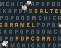 BOOM CHICKA POP: popcorn packaging