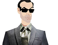 Fashion illustrations for Turnbull & Asser