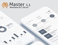 Master 1.1 - iOS Wireframe Kit