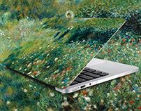 Vinyl laptop for museum shops