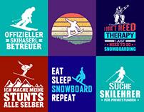 Snow Boarding T-Shirt Design.
