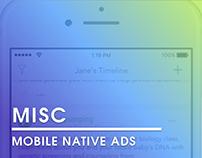 Mobile native ads.