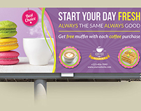 Cafe and Restaurant Billboard Template Vol.2