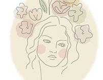 sentimental heart | Line-drawn illustrations
