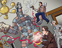 """""""Herald: Lovecraft & Tesla"""" #5 comic preview pages"""
