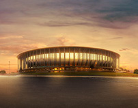 brasilia stadium // photo retouching
