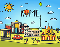 Rome Vector Free Illustration