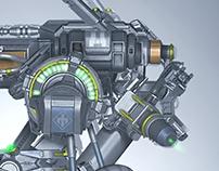 Futurist Robot
