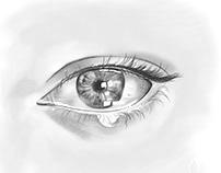 Eye painting in Adobe Fresco