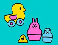 Children's Toy Doodles