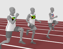 100 meter Olympic run info-graphic animation