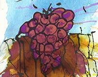 Uvas en tierra