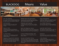 Blackdog - Tri-fold Apples to Apples Brochure Design