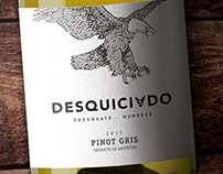 DESQUICIADO WINES - Pinot Gris / Packaging
