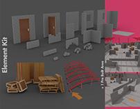 Modular 3D Industrial environment asset