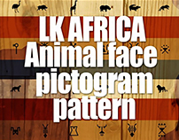 LK AFRICA Animal face pictogram pattern