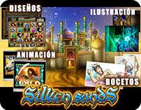 DISEÑO/ILUSTRACIÓN/ANIMACIÓN/ Slot Game - Silken Sands