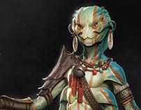 Tribal Alien Costume Design