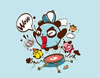 mascot,自由家齐云山风景区营地吉祥物