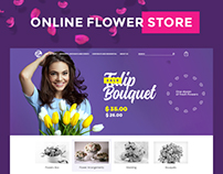 Online flower shop.