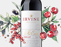 Irvine wines | botanical illustrations