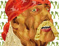 HULK HOGAN FOOD TEXTURE PORTRAIT