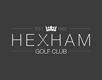 Hexham Golf Club Re-Brand