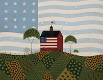 Fourth of July Art on Great BIG Canvas