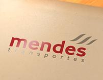 Mendes Transportes - Logotipo, Cartão e Anúncio