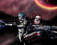 Mass Effect Illustration