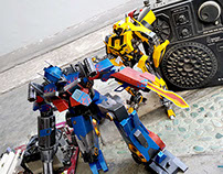 Transformers - Paper Toy Photography
