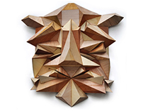 Freestyle geometric wooden mask