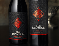 Red Diamond Wine Label & Packaging