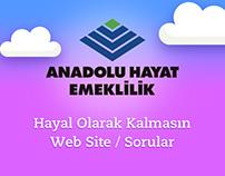 Anadolu Hayat Emeklilik   Hayal Olarak Kalmasın   Web