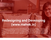 Redesigning and Developing my Website