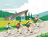 Cycling in Tuscany Illustrations