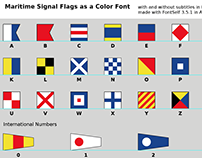 Maritime Signal Flags as Font made in Illustrator