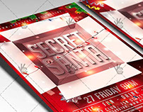 Secret Santa Party - Christmas Flyer PSD Template