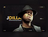 J Dilla Story Page Concept / #365designdays