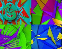 Colored Polygons - VJ Loop Pack (4in1)