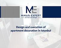 Apartment decoration in Istanbul