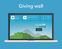 Giving Wall - engaging event donations (2016)